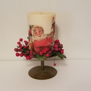 Christmas Candle and Holder